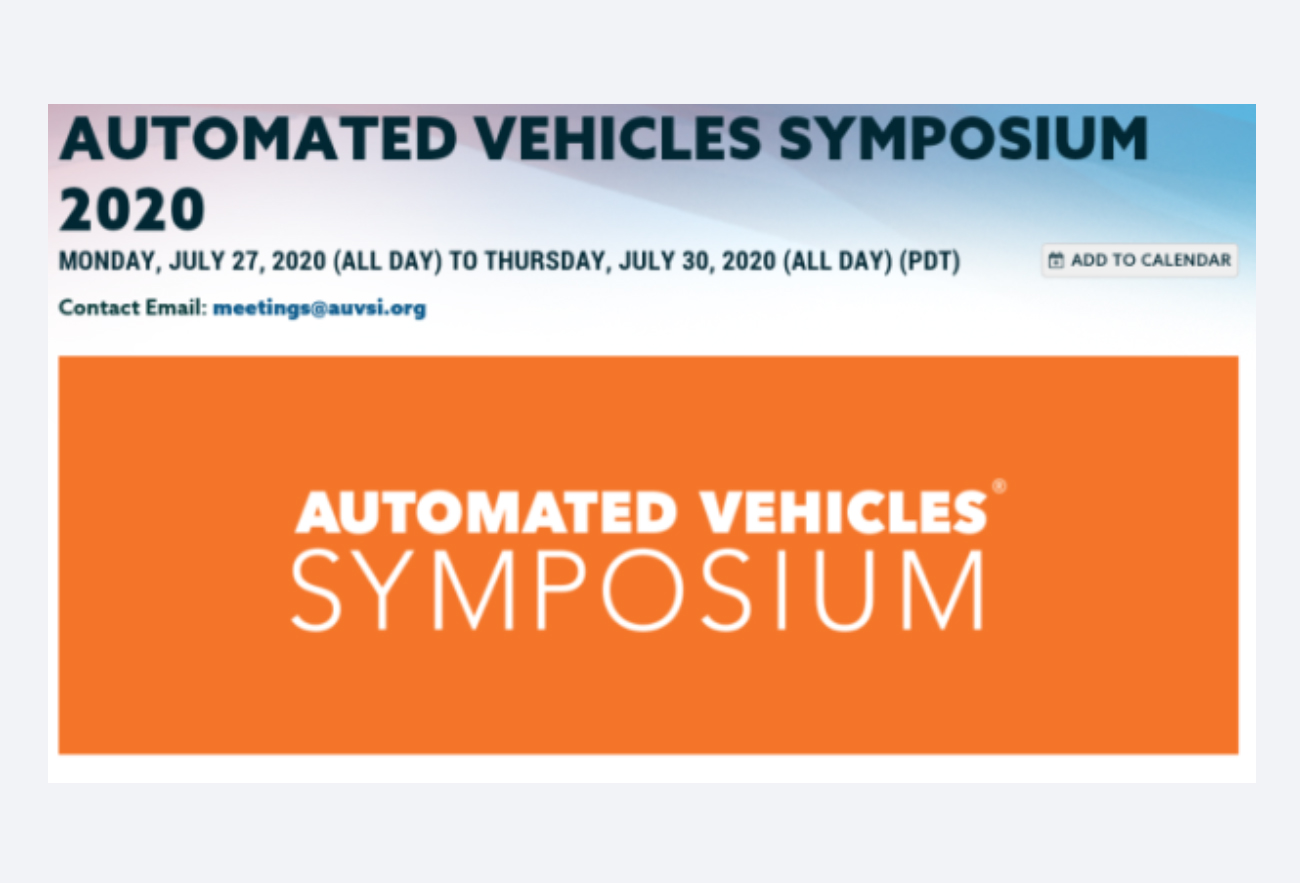 automated vehicles symposium